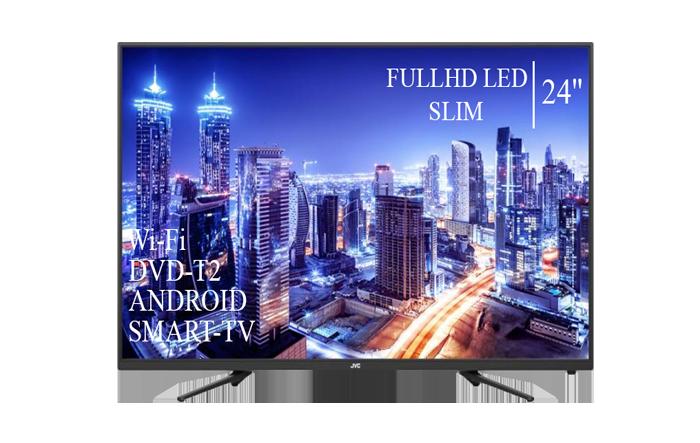 """Современный  Телевизор   JVC 24"""" Smart-TV FullHD T2 USB Гарантия 1 ГОД"""