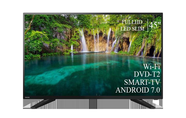 """Сучасний Телевізор Toshiba 45"""" Smart-TV FullHD T2 USB Гарантія 1 РІК"""
