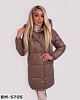 Женская качественная удлиненная куртка зефирка из эко-кожи Разные цвета, фото 1