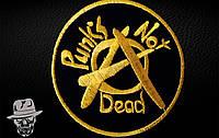 PUNK'S NOT DEAD-2 (коло) - нашивка з вишивкою