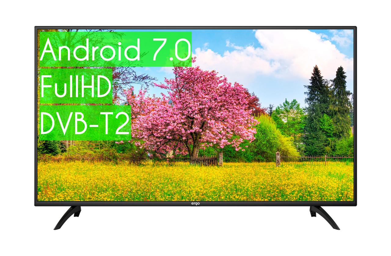 "Сучасний Телевізор Ergo 45"" SmartTV (Android 7.0) + FullHD ГАРАНТІЯ!"