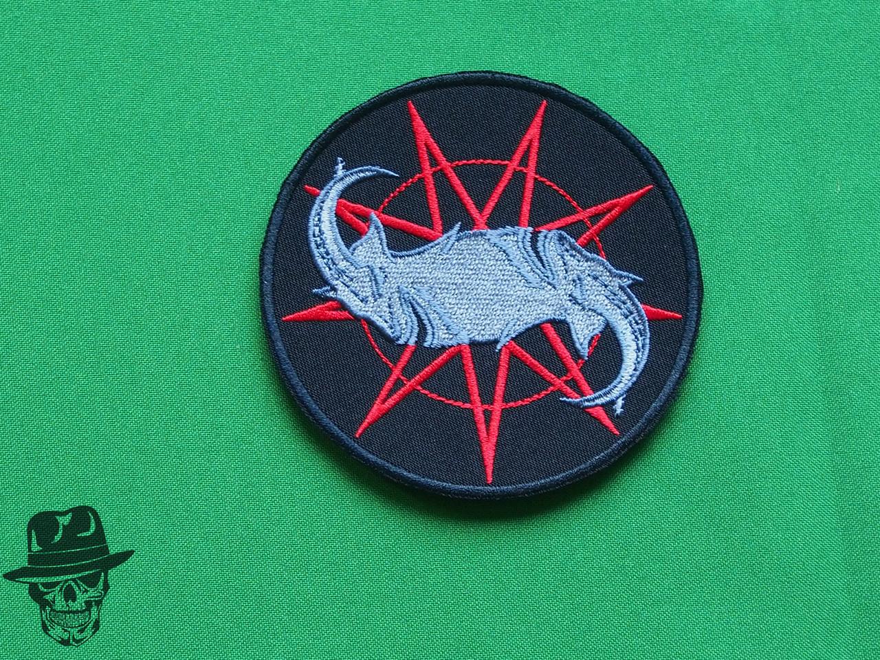 Slipknot (goats logo) - велика вишита нашивка