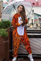 Детская пижама Кигуруми огненный Тигр 110 (на рост 108-118см)