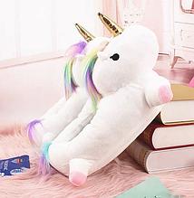 ✅ Тапочки-іграшки Кигуруми білий Єдиноріг L (Розмір 38-43)