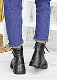 Ботинки женские зимние кожаные черные, фото 2