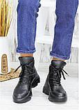 Ботинки женские зимние кожаные черные, фото 3