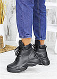 Ботинки женские зимние кожаные черные, фото 4