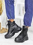 Ботинки женские зимние кожаные черные, фото 5