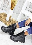 Ботинки женские зимние кожаные черные, фото 6
