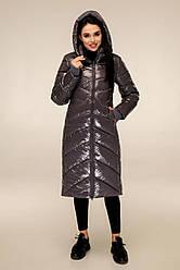 Женская зимняя куртка удлиненная размеры 44-54