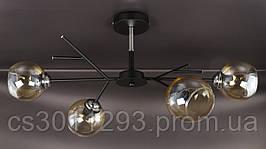 Люстра потолочная на 4 лампочки 088/4-bk-br Черный 34х35х75 см.