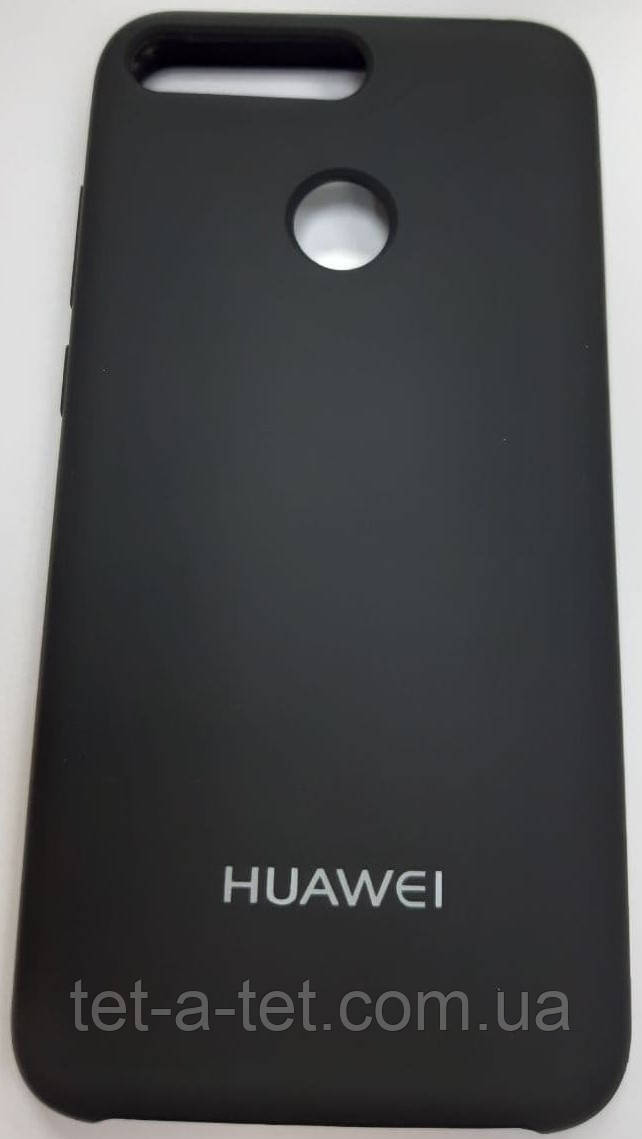 Silicone Color Cover Huawei Y6 Prime Black