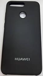 Силиконовый чехол-накладка Color Silk для Huawei Y6 Prime Black