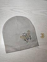Шапка для дівчинки Демісезонна  з метеликом Люрекс Стрази  Розмір 50-52 см Вік 4-8 років, фото 6