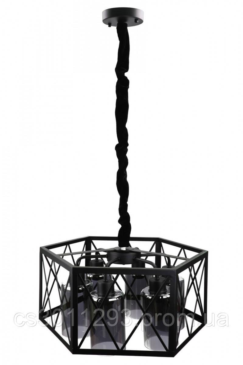 Люстра потолочная подвесная в стиле Loft (лофт) 12176/6-gr Черный 30х50х50 см.