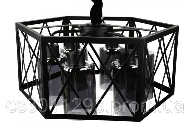 Люстра потолочная подвесная в стиле Loft (лофт) 12176/6-gr Черный 30х50х50 см., фото 2