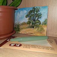 Скребок гуаша типа стик зеленый нефрит