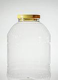 Бутылка банка пластиковая прозрачная с крышкой 10 л., фото 2