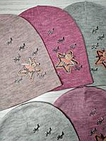 Шапка для девочки Демисезонная со звездой Размер 48-50 см Возраст 2-4 года, фото 8