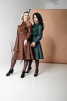 Женское платье нижа колен шоколадного цвета  44, 46, 48, 50, 52