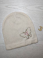Шапка для дівчинки Демісезонна  з зіркою  Розмір 48-50 см Вік 2-4 роки, фото 5