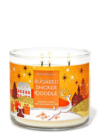 Свеча ароматизированная Bath and Body Works Sugared Snicker Doodle Scented Candle, фото 2