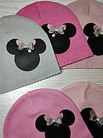 Шапка для девочки Демисезонная с Мини Маус Размер 44-46 см Возраст 6-12 месяцев, фото 8