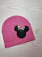 Шапка для девочки Демисезонная с Мини Маус Размер 44-46 см Возраст 6-12 месяцев, фото 6
