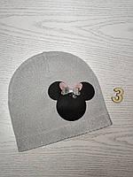 Шапка для девочки Демисезонная с Мини Маус Размер 44-46 см Возраст 6-12 месяцев, фото 5
