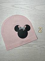 Шапка для девочки Демисезонная с Мини Маус Размер 44-46 см Возраст 6-12 месяцев, фото 4