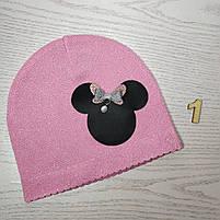 Шапка для девочки Демисезонная с Мини Маус Размер 44-46 см Возраст 6-12 месяцев, фото 3