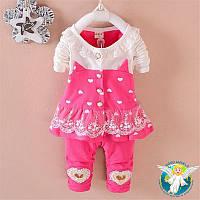 Одежда для маленьких девочек BibiCola, комплект одежды от 6 месяцев до 3 лет