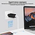 Сетевое зарядное устройство Promate GaNPort3-65PD 65 Вт, 2хUSB-C + USB-A Black, фото 4