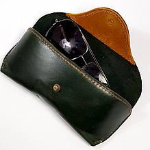 Шкіряний футляр чохол для окулярів Rayban Polaroid