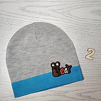 Шапка для мальчика Демисезонная с полоской Bear Размер 44-46 см Возраст 6-12 месяцев, фото 4