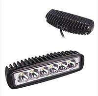 LED фара на 6 диодов. Светодиодная дополнительная лэд фара. Корпус металл. Гарантия 12 мес.