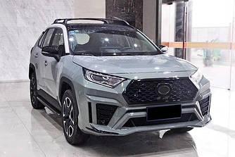 Обвес Toyota Rav4 XA50 тюнинг бампер и диффузор