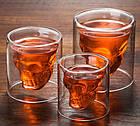 Стакан для виски Череп | Стакан с двойным дном | 3D стакан для напитков, фото 5