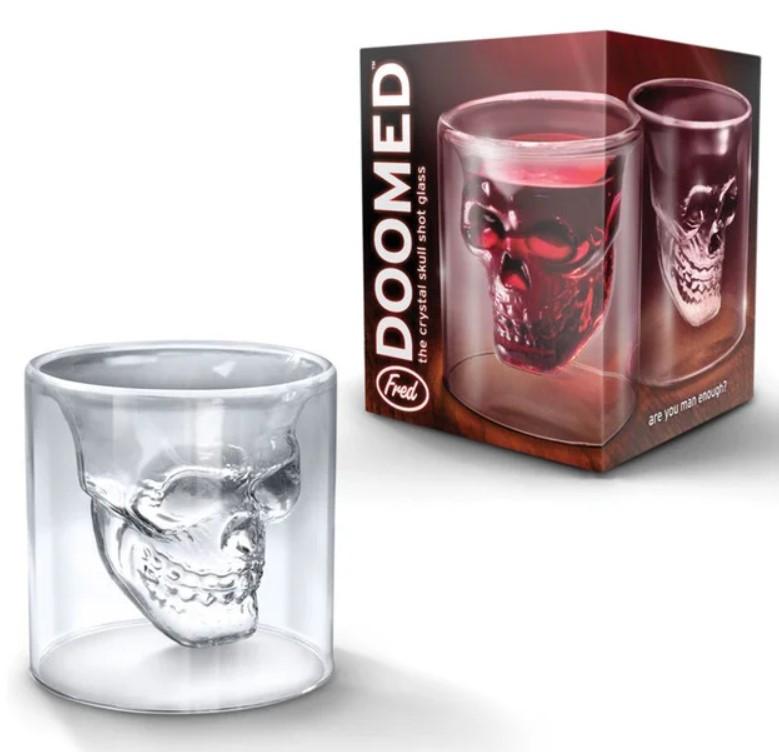 Стакан для виски Череп | Стакан с двойным дном | 3D стакан для напитков