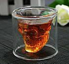Стакан для виски Череп | Стакан с двойным дном | 3D стакан для напитков, фото 3