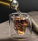 Стакан для виски Череп | Стакан с двойным дном | 3D стакан для напитков, фото 7