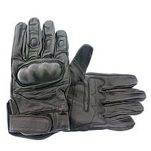 Кожаные перчатки черные военные тактические  MIL-TEC Black