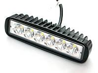 Светодиодная фара 18W. дальний свет. LED (лэд) фара 12В и 24В. Корпус МЕТАЛЛ. Диоды EPISTAR, OSRAM, CREE.