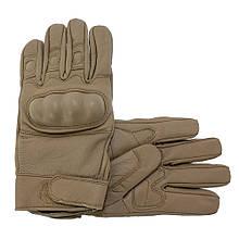 Тактические перчатки кожаные MIL-TEC COYOTE