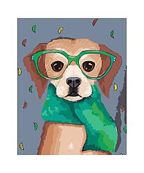 Картина по номерам Пес в окулярах, 40x50 см., Art Story
