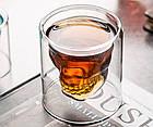Стакан для виски Череп | Стакан с двойным дном | 3D стакан для напитков, фото 8