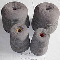 Шерстяные нитки серые для вязания для машинного и ручного вязания, в наличии 5 кг
