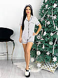 Женская пижама с шортами из легкой ткани (Норма, Батал), фото 5
