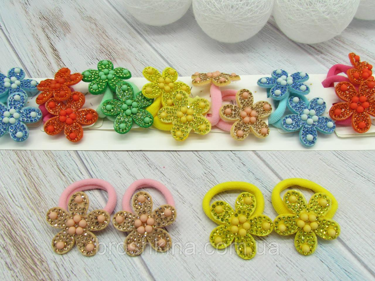 Детские резиночки для волос 10 пар/уп. Цветочки