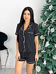 Женская пижама с шортами из легкой ткани (Норма, Батал), фото 2
